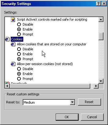 Enable Cookies Internet Explorer
